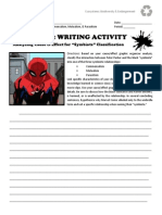 directed study - day 4 - biology - writing assignment - spiderman symbiote classification