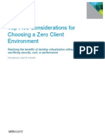 Vmware Top Five Considerations for Choosing a Zero Client Environment Techwp