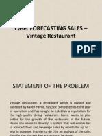 Vintage Restaurant Case