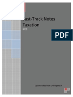 Fasttrack Notes on Taxation IPCC