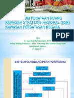 Aspek Hukum Penataan Ruang Kawasan Strategis Nasional (KSN) Kawasan Perbatasan Negara