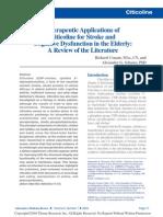Therapeutic Application of Citicoline