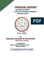 Self Appraisal Report Khalsacollege