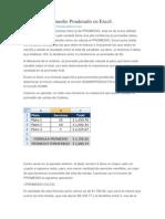 Calculo de Promedio Ponderado en Excel
