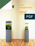 Amenajarea acvariului manual