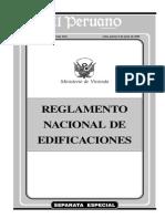 Reglamento Nacional de Edificaciones 2006