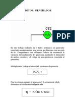 Práctica motor-generador cc