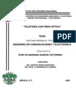 Tesis. Telefonia Con Fibra Optica [IPN]