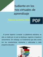 El Estudiante en Los Entornos Virtuales de Aprendizaje