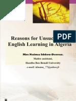 Algerian Student Fail