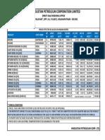 Bitumen Price Lists Wef 01-06-2013