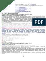 CODUL FISCAL Actualizat La 05-01-2011