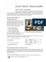 Presentation – Practice – Production (Ppp)