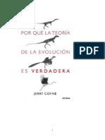 Coyne Jerry - Por Que La Teoria de La Evolucion Es Verdadera