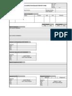 External QC Inspection Request-Report Form