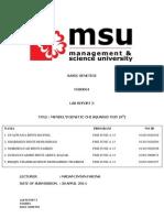 Basic Genetics Lab Report 3 Tmmorow