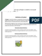 Assignment of Advanceperformance Managment