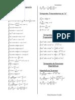 Formulas de Integración