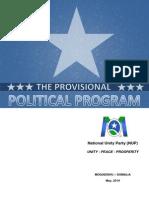 Basic Program of the National Unity Party NUP-Somalia1