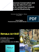Philippine Wildlife Act and Procedures for Conducting Research