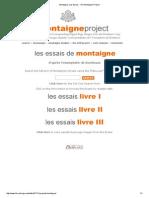 Montaigne, Les Essais - The Montaigne Project