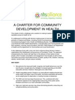 Charter for Community Development in health