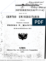 Pedro P. Martínez. Conferencias