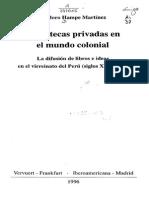 Introducción de La Obra de Teodoro Hampe, Libros en La Colonia