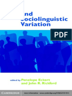 Style and Sociolinguistics