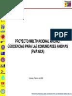 Proyecto Multinacional Andino Geociencias Para Las Comunidades Andinas