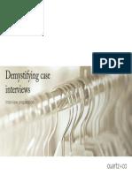 Career-Demystifying Case Interwievs