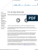 Try an Eye Exercise