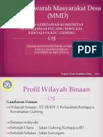 Musyawarah Masyarakat Desa (MMD) = 2014