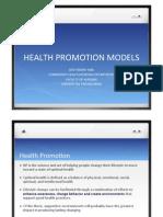 Health Promotion Models