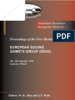 Monograph Series No. 1 - 1st Meeting of European Equine Gamete Group on Reproduction