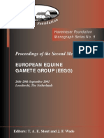 Monograph Series No. 5 - 2nd Meeting of European Equine Gamete Group on Reproduction