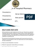 Self-Care Test Kits.ppt of HOSPITAL