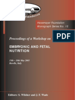 Monograph Series No. 10 - Embryonic and Fetal Nutrition