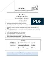 2012 Biology ASOE Section a and B