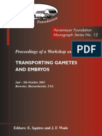 Monograph Series No. 12 - Transporting Gametes and Embryos