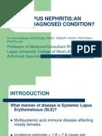 Lupus Nepritis Lecture 2