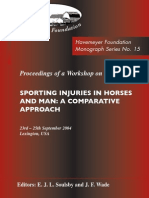 Monograph Series No. 15 - Sporting Injuries in Horses and Man - A Comparative Approach