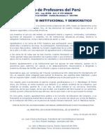 LLAMAMIENTO INSTITUCIONAL Y DEMOCRÁTICO