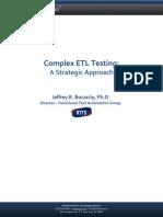 Complex ETL Testing