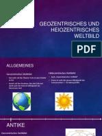 Geozentrisches Und Heiozentrisches Weltbild