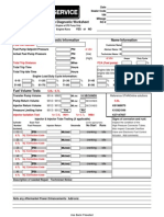 Cummins Diesel Fuel Diagnostic Worksheet