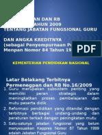 Permenegpanrb No 16 Thn 2009