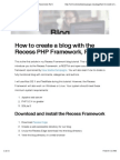 How to Create a Blog With the Recess PHP Framework, Part 1
