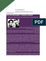 Walter Benjamin y Hannah Arendt