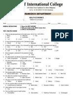 Health Economics Midterm Examination